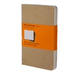 Moleskine Cahier Kraft Brown Extra Large Ruled Notebook (set of 3) (7.5 x 10)