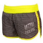 Mizzou Juniors' Grey with Neon Trim Athletic Shorts