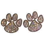 Tiger Paw Rhinestone Earrings