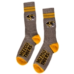 Mizzou Tigers Stripe Grey Knee High Socks