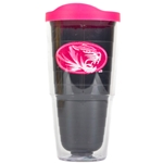 Mizzou Oval Tiger Head Pink Tumbler