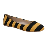 Mizzou Lilly U Black & Gold Ballet Flats