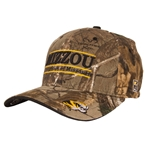 Mizzou Real Tree Tiger Head Camouflage Stretch-Fit Hat