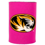 Mizzou Oval Tiger Head Pink Can Cover