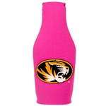 Mizzou Oval Tiger Head Pink Bottle Cover