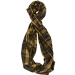 Mizzou Official Plaid Infinity Scarf