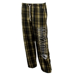 Mizzou Tiger Head Virtical Print Plaid Open Bottom Sweatpants