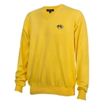 Mizzou Tiger Head Gold V-Neck Sweater
