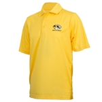 Mizzou Tiger Head Gold Polo