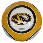 Mizzou Oval Tiger Head Black & Gold Soccer Ball