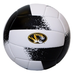 Mizzou Oval Tiger Head Black & Gold Volleyball