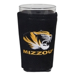 Mizzou Pint Glass with Black Leather Cover