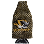 Mizzou Tiger Head Gold Bling Bottle Koozie