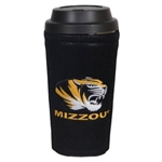 Mizzou Travel Mug with Black Leather Cover