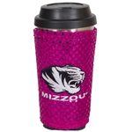 Mizzou Travel Mug with Pink Sparkle Cover