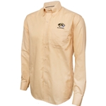 Mizzou Cutter & Buck Tiger Head Drytec Old Gold Dress Shirt