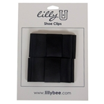 Lily U Black Bow Shoe Clips