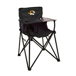 Mizzou Tiger Head Black Portable Tailgate High Chair