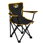 Mizzou Youth Oval Tiger Head Black & Gold Canvas Tailgate Chair