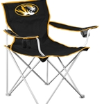 Mizzou Tiger Head Black and Gold Deluxe Tailgate Chair