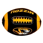 Mizzou Oval Tiger Head Black & Gold Softee Football