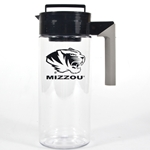 Mizzou Tiger Head Plastic Pitcher with Strainer