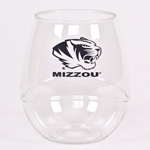 Mizzou Tiger Head Plastic Beverage Glass