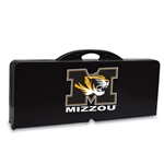 Mizzou Tiger Head Portable Black Picnic Table