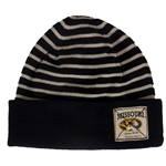 Missouri The Game Oval Tigerhead 1839 Mizzou-Rah Black and Tan Beanie