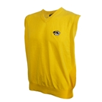 Mizzou Tiger Head Gold V-Neck Sweater Vest