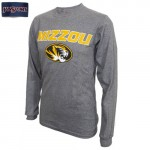 Mizzou Oval Tiger Head SEC Grey Crew Neck Shirt