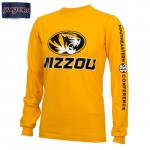 Mizzou Oval Tiger Head SEC Gold Crew Neck Shirt