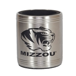 Mizzou Tiger Head Stainless Steel Koozie
