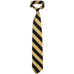 Mizzou Black & Gold Diagonal Stripe Tie