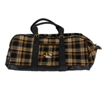 Mizzou Tiger Head Official Plaid Weekend Bag