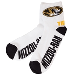 Mizzou Tigers Ankle White Socks