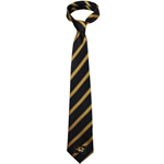 Mizzou Tiger Head Black & Gold Striped Tie