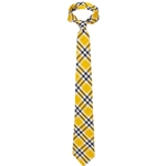 Mizzou Black & Gold Cotton Plaid Tie