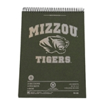 Mizzou Tiger Head Recycled Top Spiral 3 Subject Notebook
