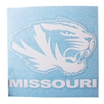 Mizzou Tiger Head Knife Cut Decal