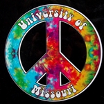 University of Missouri Peace Sign Decal