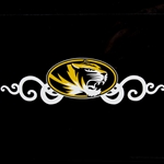 Mizzou Tiger Head Swirl Decal
