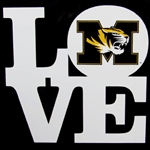 Mizzou Tiger Head Love Decal
