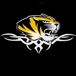 Mizzou Tiger Head Tribal Decal