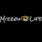Mizzou Oval Tiger Head Life Decal