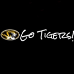 Mizzou Oval Tiger Head Go Tigers Decal