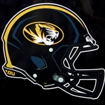 Mizzou Oval Tiger Head Football Helmet Decal