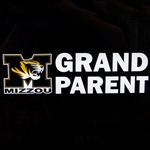 Mizzou Tiger Head Grandparent Decal