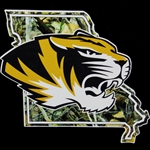 Mizzou Tiger Head State Camouflage Decal