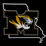 Missouri Tiger Head State Outline Decal
